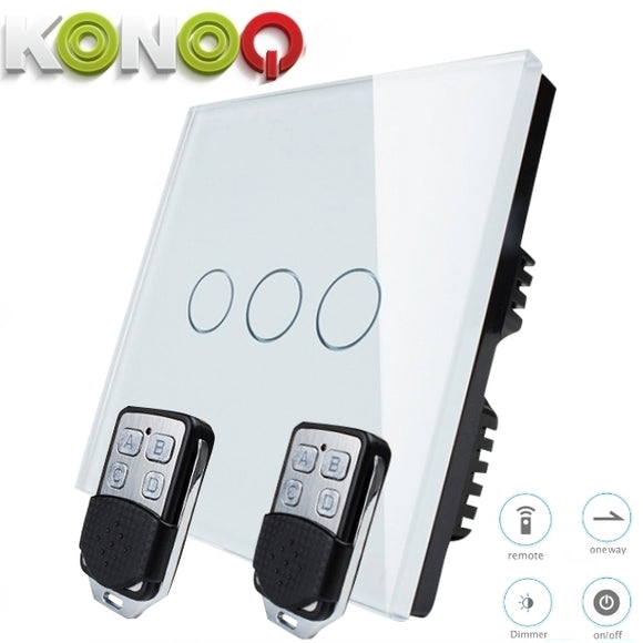 KONOQ - 3Gang 1Way Wifi Dimmer Switch (via Broadlink)