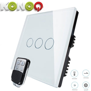 KONOQ - 3Gang 1Way Wifi On-Off Switch (Via Broadlink)