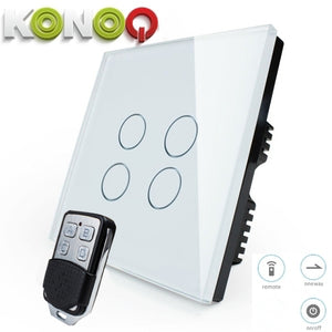KONOQ - 4Gang 1Way Remote On-Off Switch