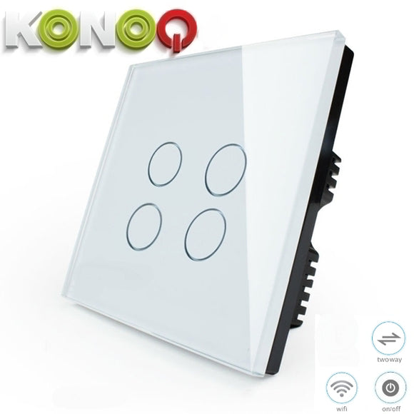 KONOQ - 4Gang 2Way Wifi Integrated On/Off