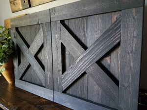 X Brace TV Barn Door Package - TV Cover with Barn Hardware