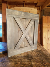 Load image into Gallery viewer, X Brace TV Barn Door Package - TV Cover with Barn Hardware
