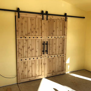 Double Barn Door Package - Horizon style with Barn Hardware