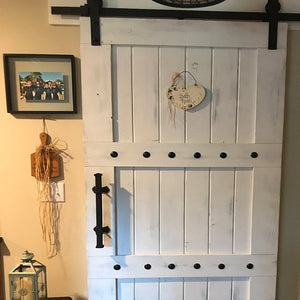 Rustic Interior Barn Sliding Door with Barn Hardware - 84x36 Horizon style Barn Door