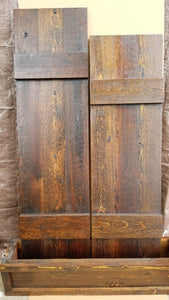 RUSTIC Cedar Exterior Shutters - Custom Wood Shutters - Decorative Shutters