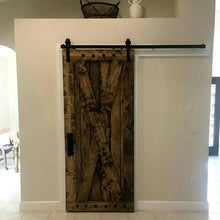 Load image into Gallery viewer, X Brace Rustic Barn Door w/Clavos