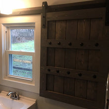 Load image into Gallery viewer, Interior Window Barn Shutter Package - Sliding Shutters - Rustic Wood Shutter