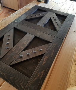 TV Barn Door Package - TV Hide - Custom TV Cover with Barn Hardware