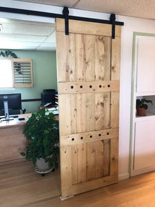 Rustic Interior Barn Sliding Door with Barn Hardware - 84x30 Horizon style Barn Door