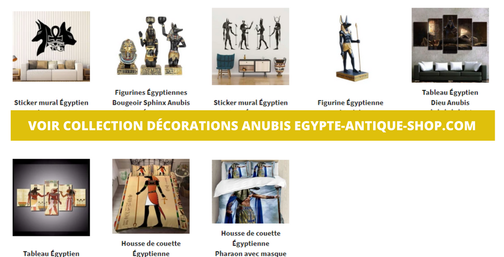 décorations anubis