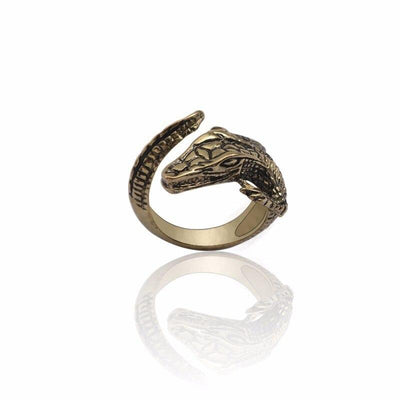Bague crocodile Bronze