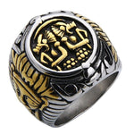 Bague Pharaon Or & Argent