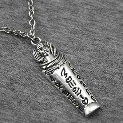 49x15mm Egyptian Pharaoh Pendant Necklace For Women Antique Silver Color Vintage Necklace Jewelry Accessories | Egypte Antique Shop