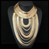 Collier Plastron Chic Or