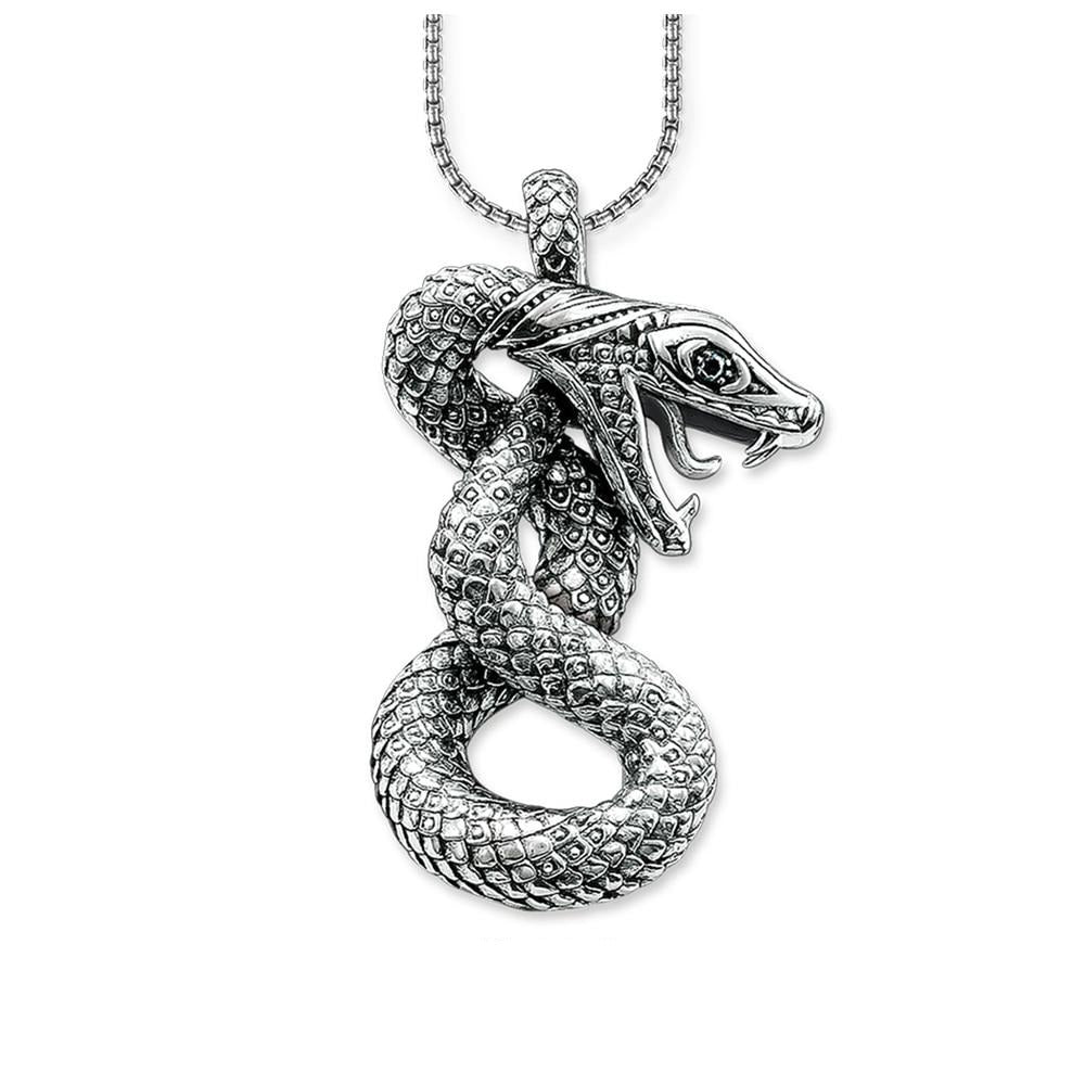 collier serpent argent
