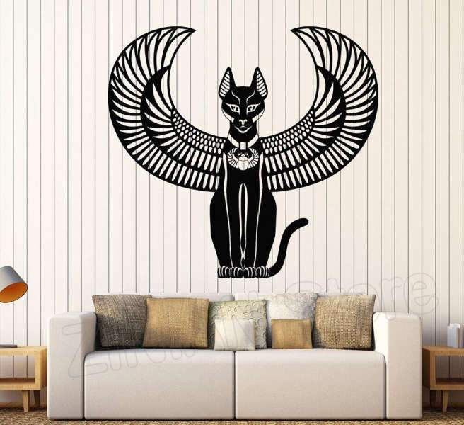 Bastet mural | Egypte Antique Shop