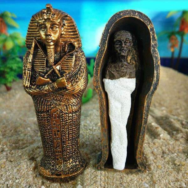 Figurine égyptienne Sarcophage & Momie (9,5 cm) | Egypte Antique Shop