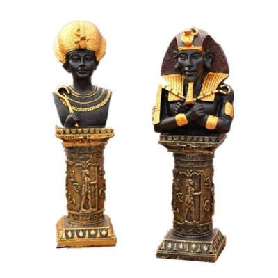 Figurines Pharaon Akhenaton & Nefertiti | Egypte Antique Shop