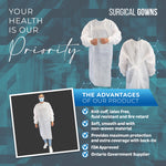 Disposable Isolation Gowns (5 pcs)