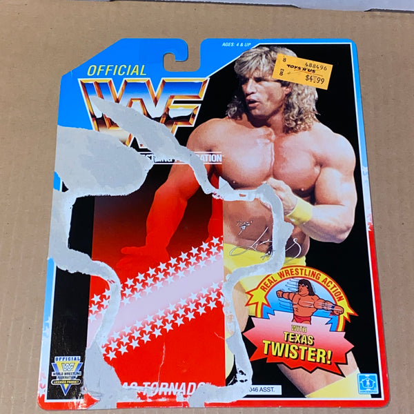 WWF Hasbro - Series 3 TEXAS TORNADO - uncut file card back (card only, no figure)