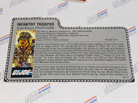 GI joe File Card - 1985 FOOTLOOSE - Gray