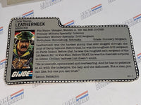 GI joe File Card -  1986 LEATHERNECK