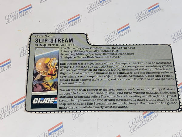 GI joe File Card -  1986 SLIPSTREAM