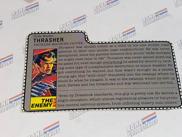 GI joe File Card -  1986 THRASHER