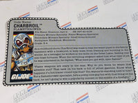 GI joe File Card - 1988 CHARBROIL