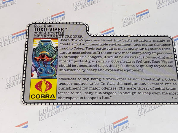 GI joe File Card - 1988 TOXO VIPER