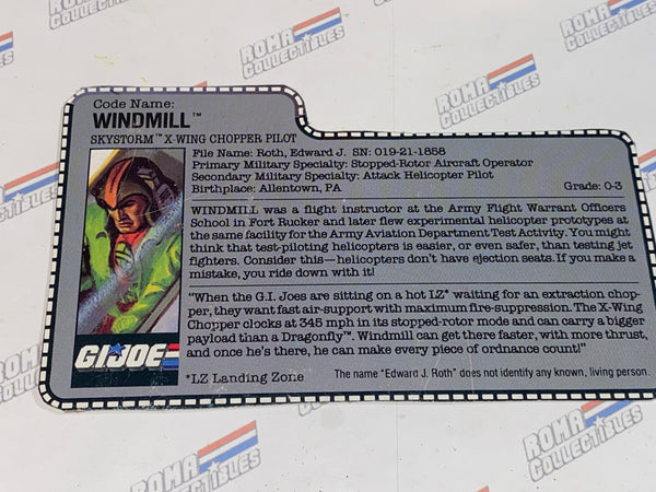 GI joe File Card - 1988 WINDMILL