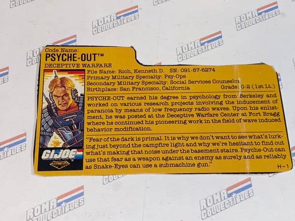 GI joe File Card - 1988 PSYCHE OUT v2 - NIGHT FORCE