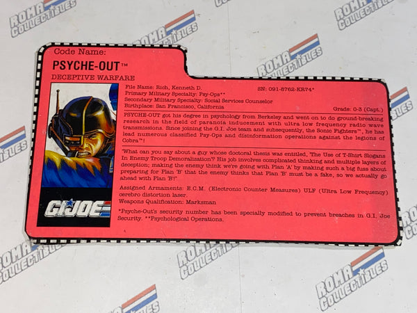 GI joe File Card - 1991 PSYCHE OUT v2 - Super Sonic Fighters