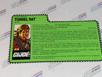 GI Joe File Card - TUNNEL RAT v3 - Sonic Fighters