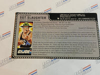 GI joe File Card -  Uncut SGT. SLAUGHTER v1 - Mail Away
