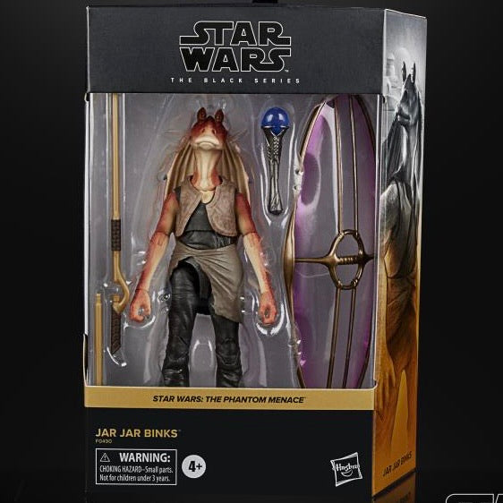 Star Wars - JAR JAR BINKS Deluxe figure - brand new case fresh
