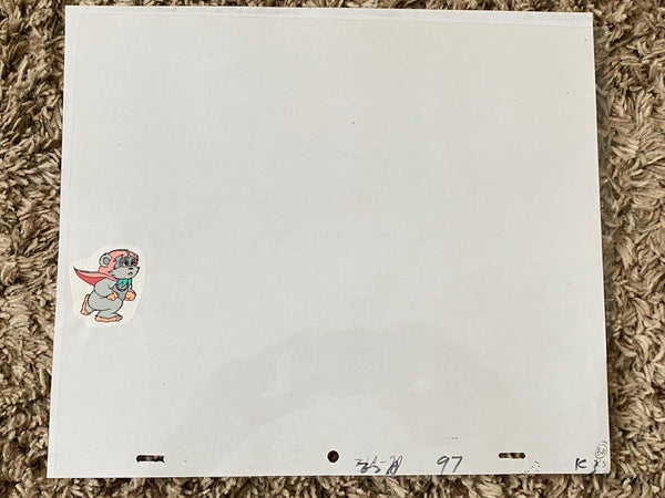 EWOKS Animation Cel - KNEESAA 002 - with white background and original pencil art