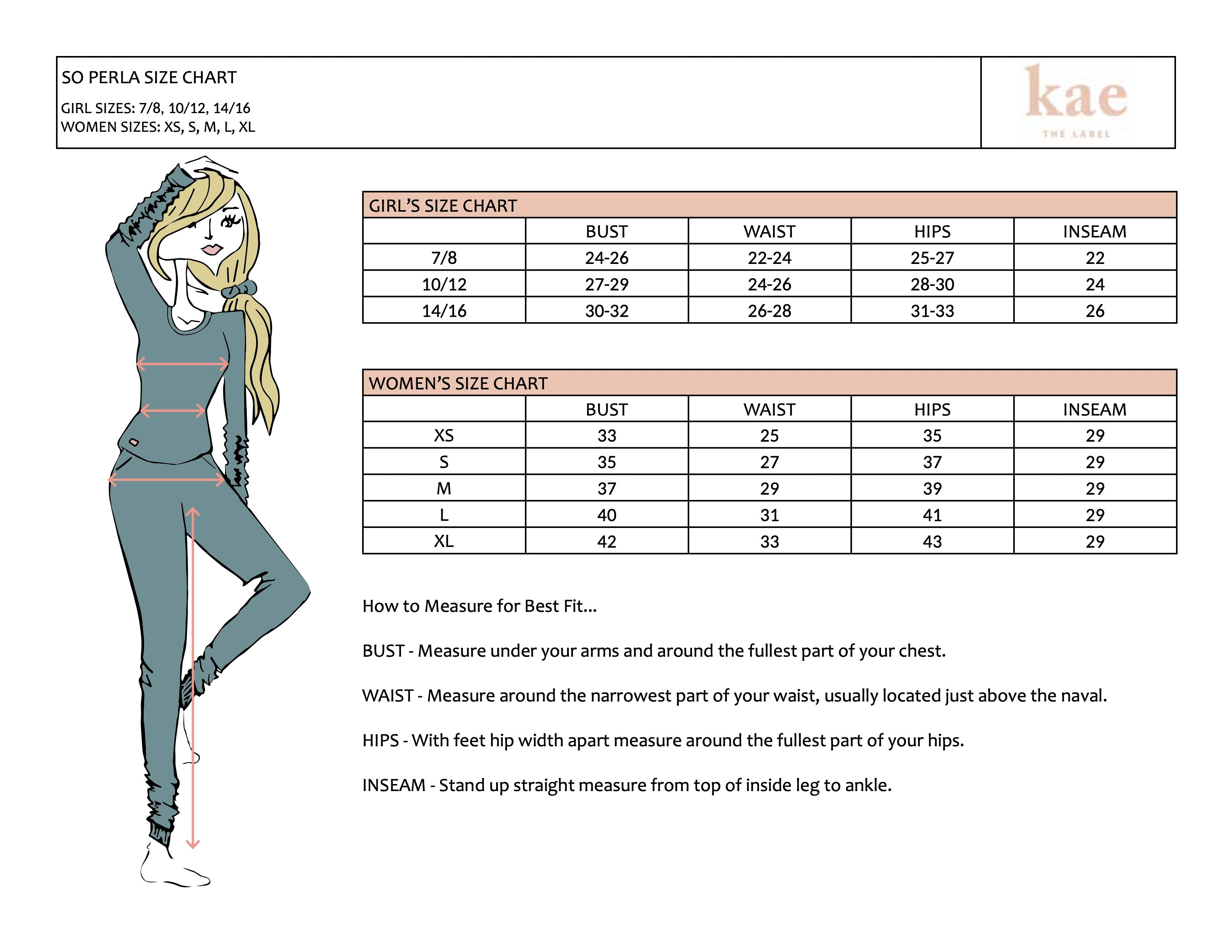 Kae the Label Size Chart