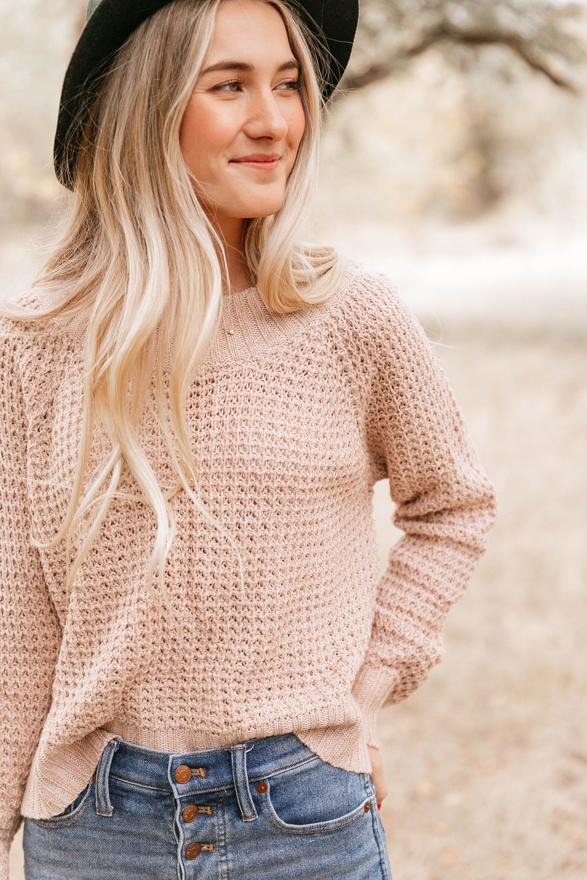 Pale Blush Crewneck Sweater