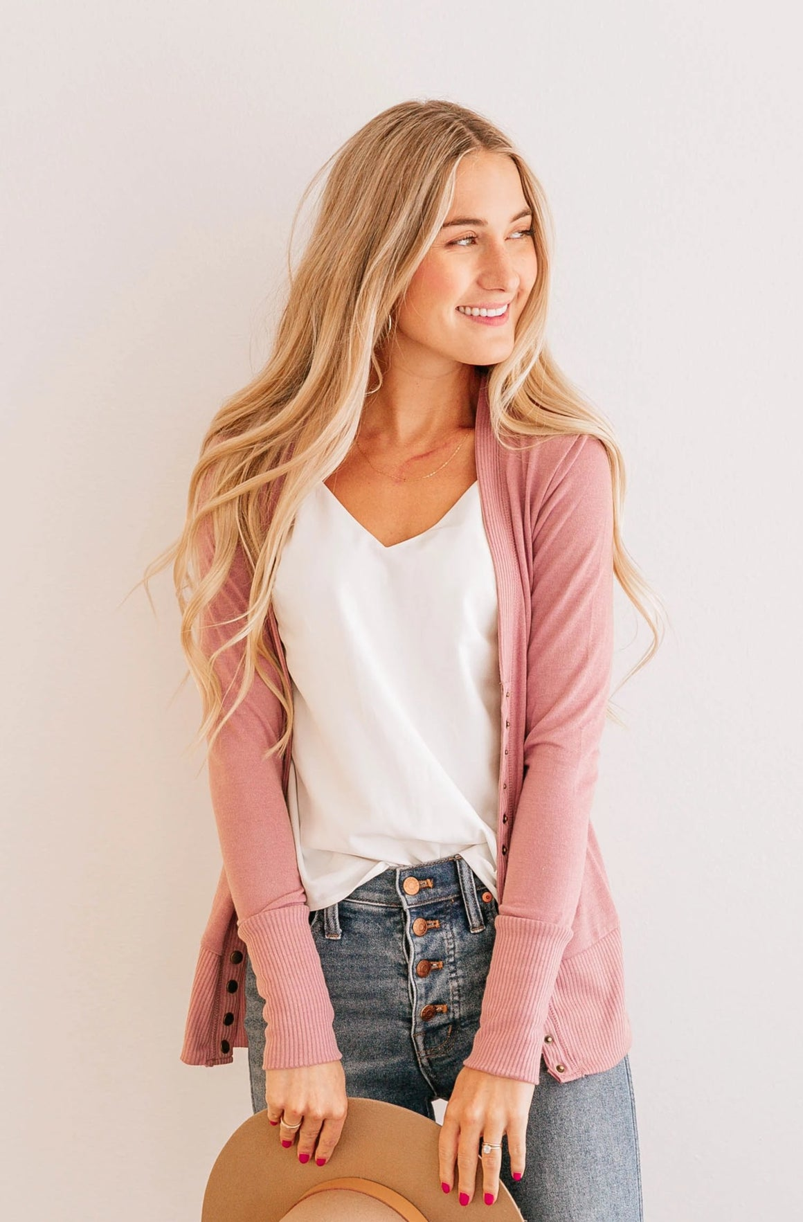 BASIC BUTTON CARDIGAN