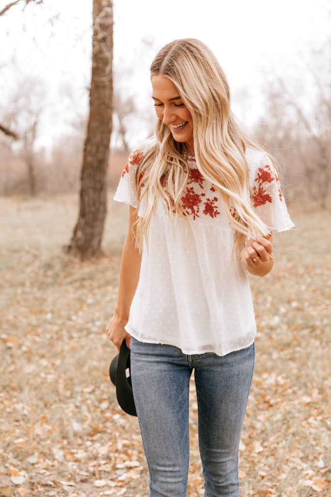 Floral Empire-Waist Top