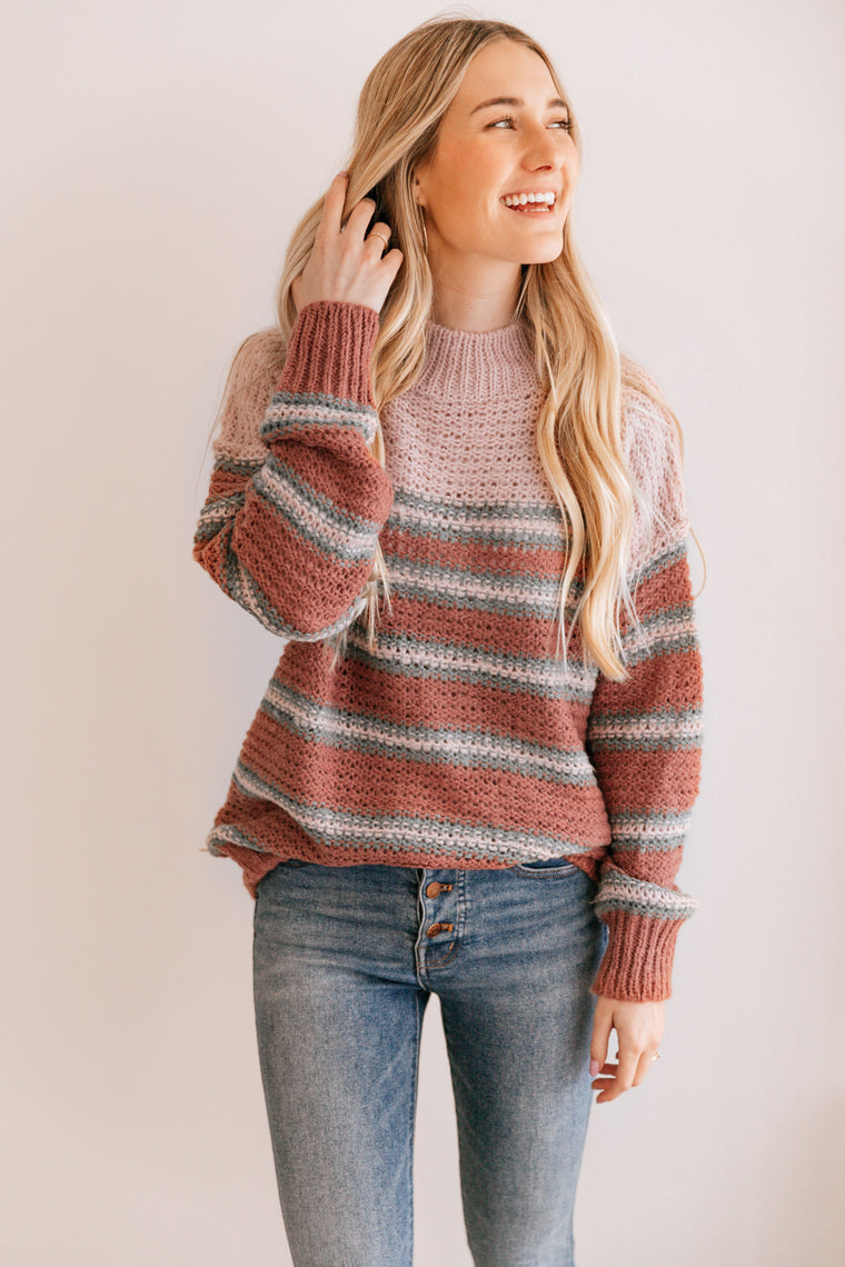 Ash Rose Stripe Sweater