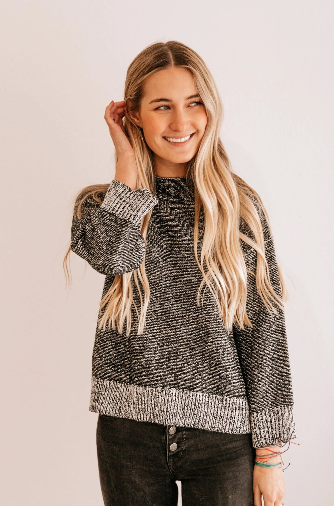 Heather Drop-Shoulder Sweater