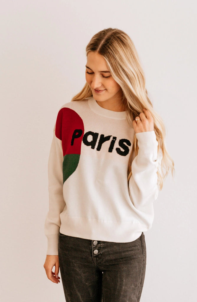 'Paris' Crew Neck Sweater