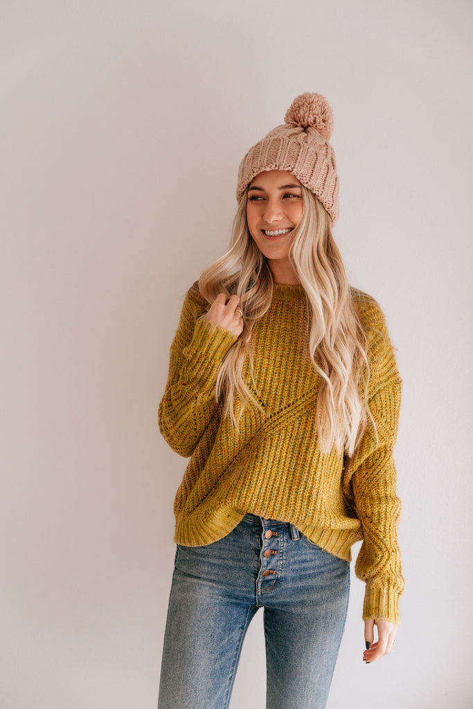 Multi Color Mustard Sweater