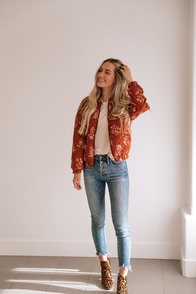 Quilted Floral Jacket