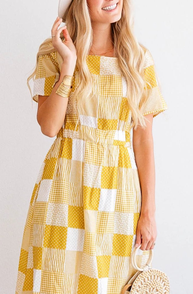 Garden Patchwork Dress