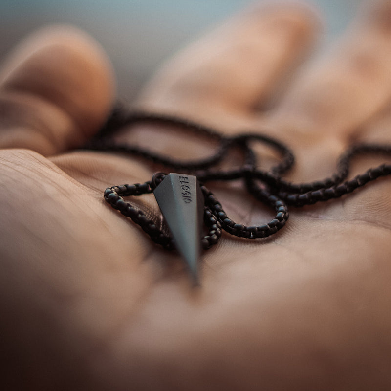 Men's Necklaces - The Polygon - Matte Black