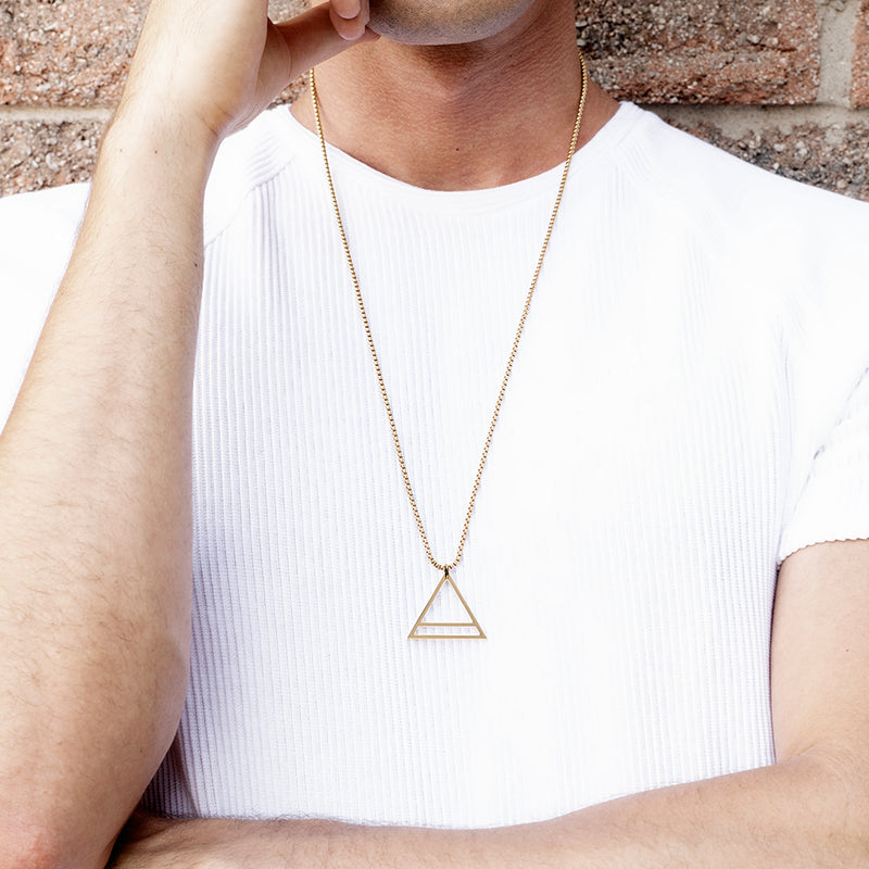 Men's Necklaces - The Trinity - Gold - Preview