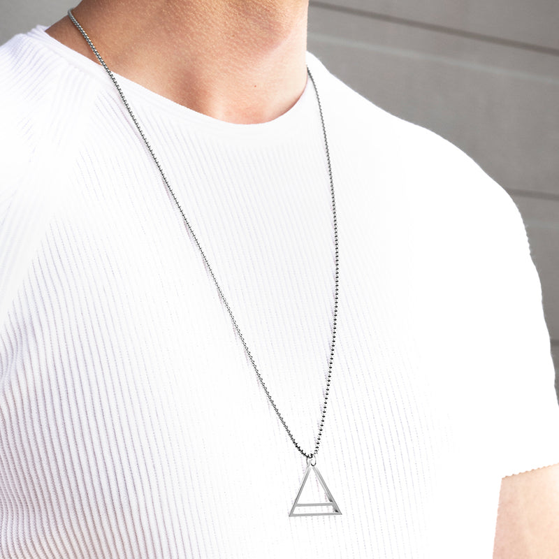 Men's Necklaces - The Trinity - Silver - Preview